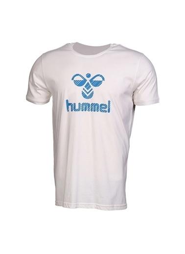 Hummel Hummel Erkek Bisiklet Yaka Beyaz T-Shirt Beyaz